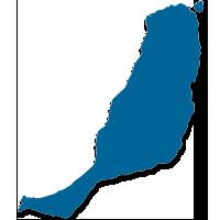 Mapa la isla de Fuerteventura (Islas Canarias)