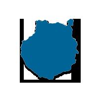 Mapa la isla de Gran Canaria (Islas Canarias)