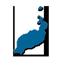 Mapa la isla de Lanzarote (Islas Canarias)
